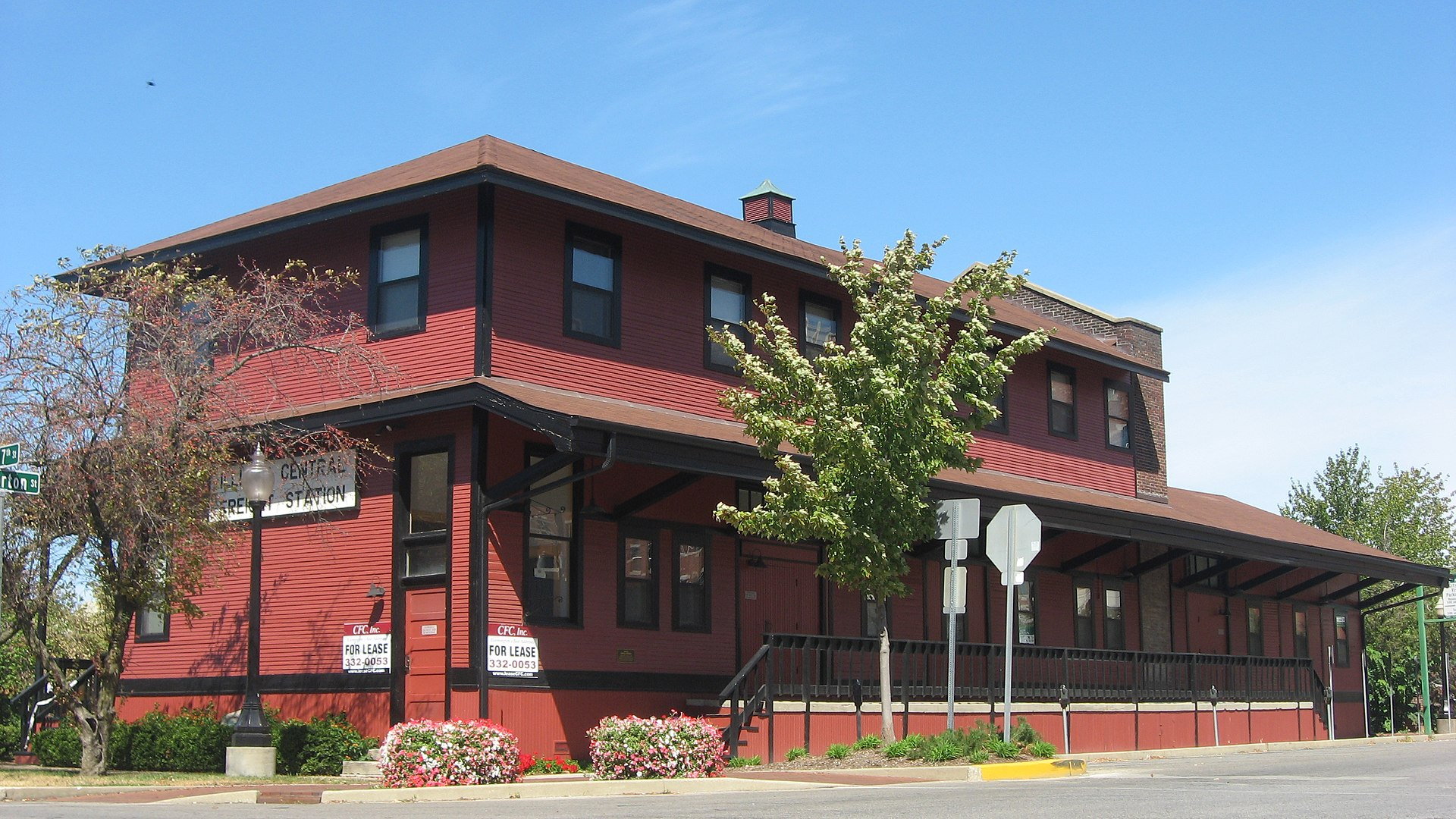 The Illinois Central Railroad Freight Depot was built in 1906 and operated until 1963.