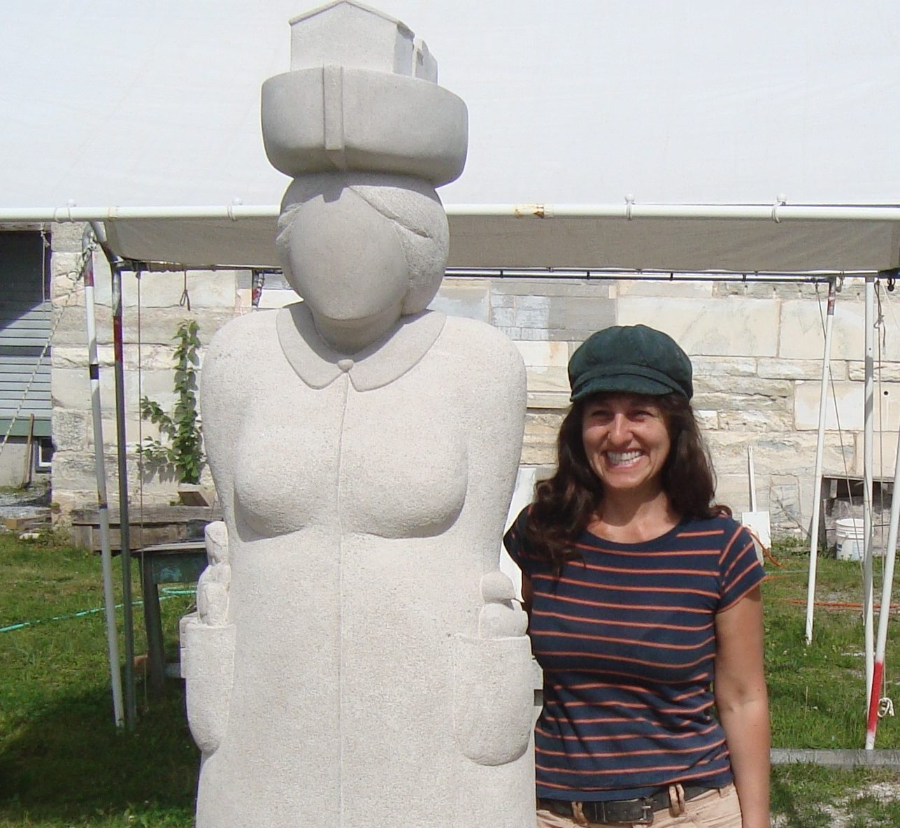 The Immigrant, with sculptor Nora Valdez