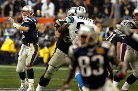 Tom Brady leading the offense down the field Super Bowl XXXVIII