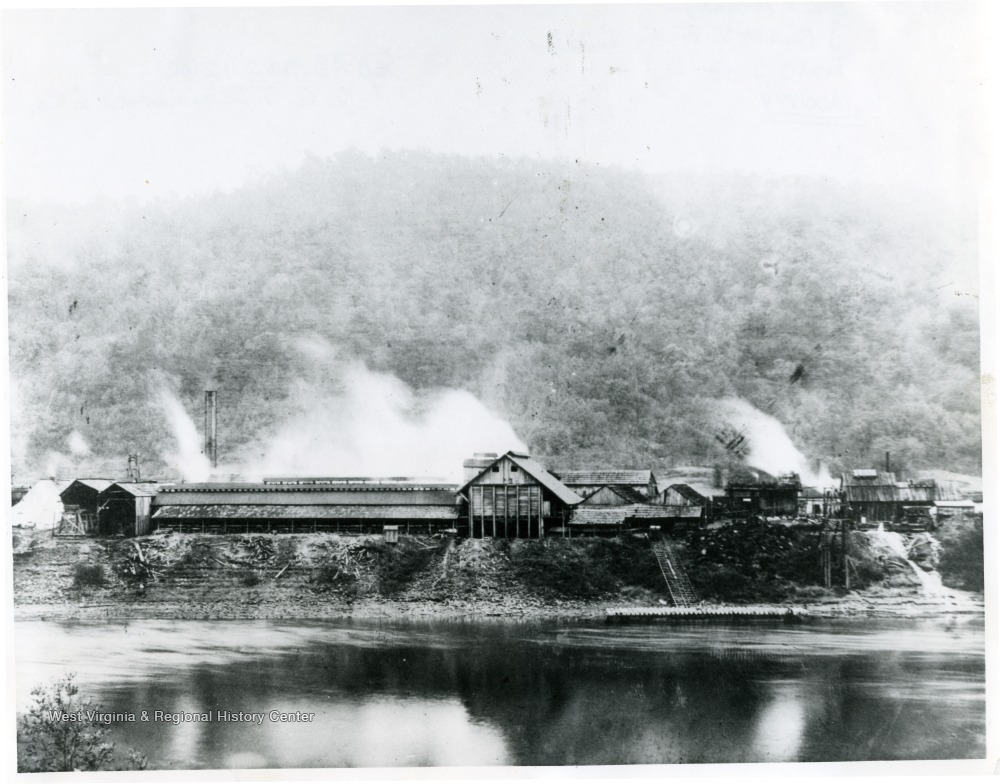 Dickinson Salt Works as Seen from the Opposite Bank of the Kanawha River, ca. 1910
