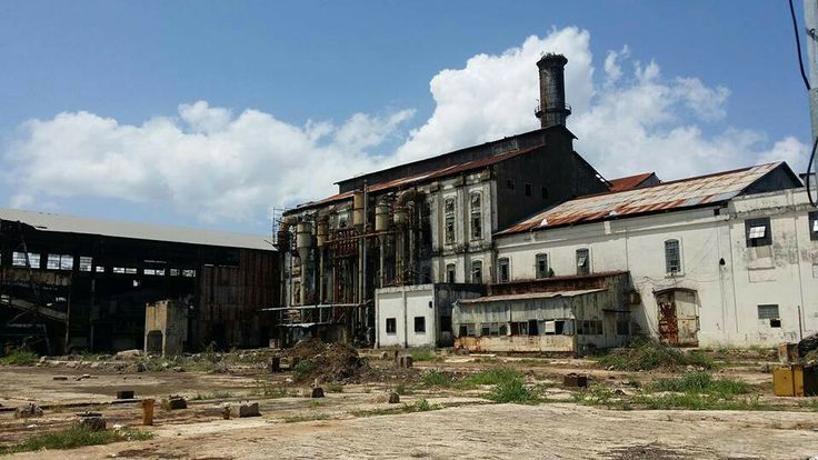 How the abandoned Aguirre Sugar Refinery looks today.