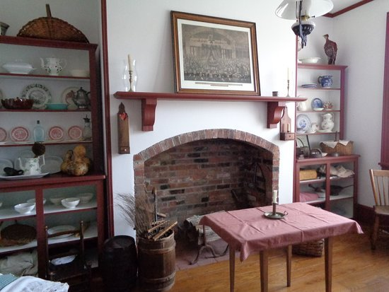 The simple interior of the tollhouse's residence.