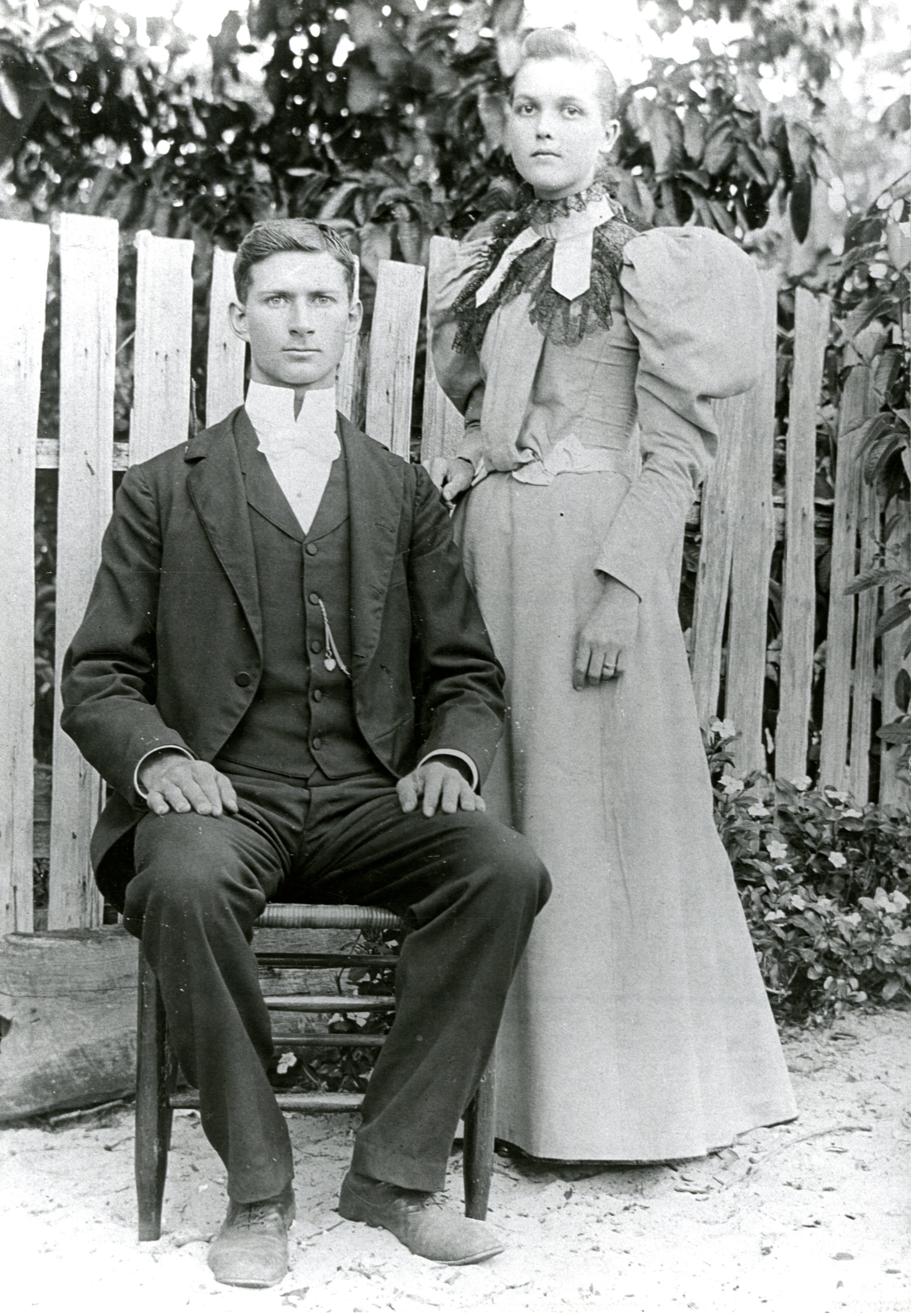 Charles Breckinridge and Mattie McMullen, Largo, Florida, circa 1900.