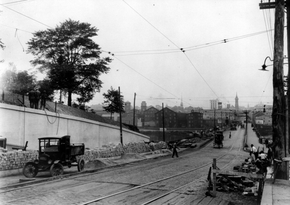 Improvements to the Lincoln Highway and Albany Street Bridge in 1925