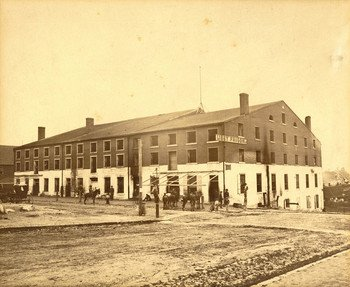 Image of Libby Prison while it was standing in Richmond, Virginia
