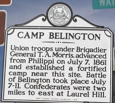 Camp Belington Marker