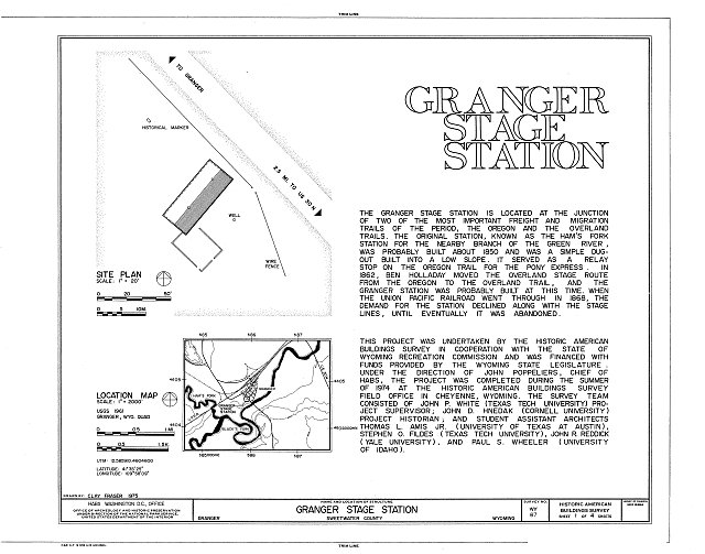 Sketches of Granger Station 4.