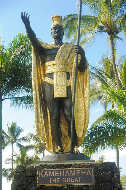 The statue was commissioned by the King of Hawaii in the 1880s and is located where the island's first great king was born.