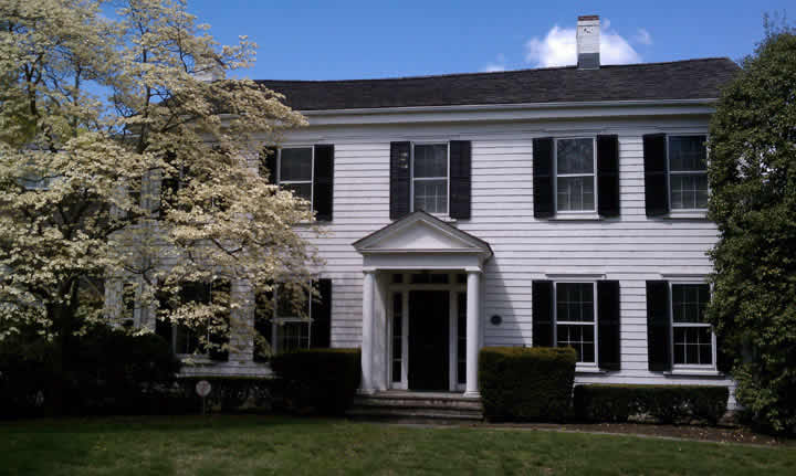 The Town House serves as the headquarters for the New Canaan Historical Society.