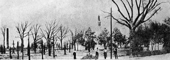 Hemming Park after the Great Fire