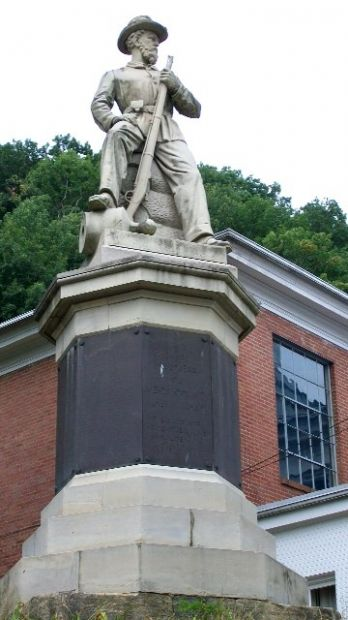The Meigs County Civil War Memorial.