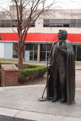 Statue of Brown in James Brown Plaza taken by Mike Stroud in 2013.