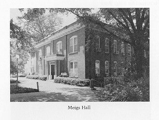 Meigs' Hall at the University of Georgia. Named for Josiah Meigs, first President of the University