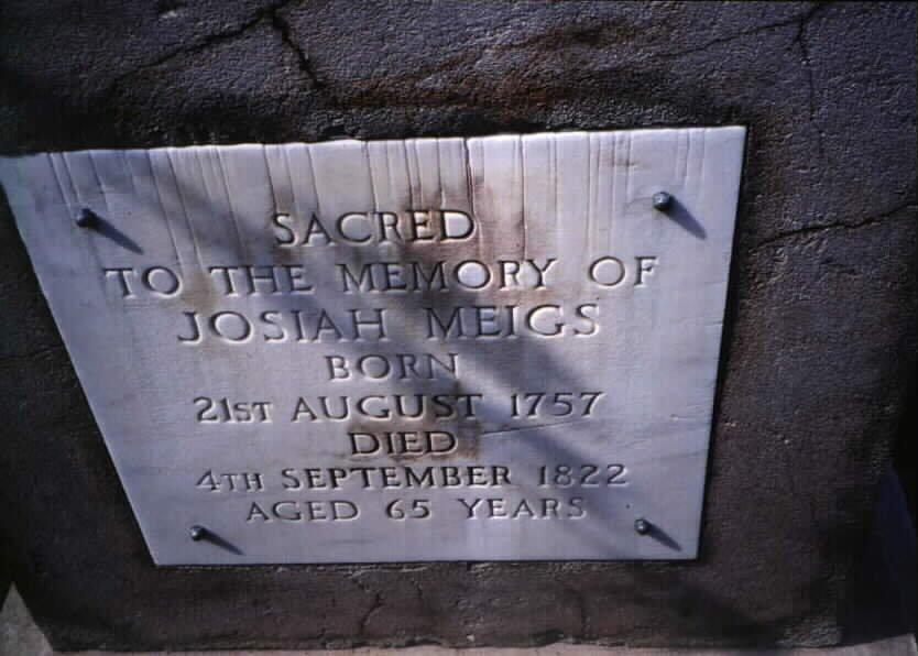 Josiah Meigs' headstone at Arlington National Cemetery