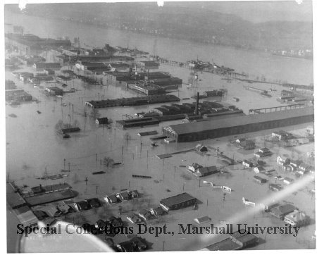The ACF plant during the 1937 flood