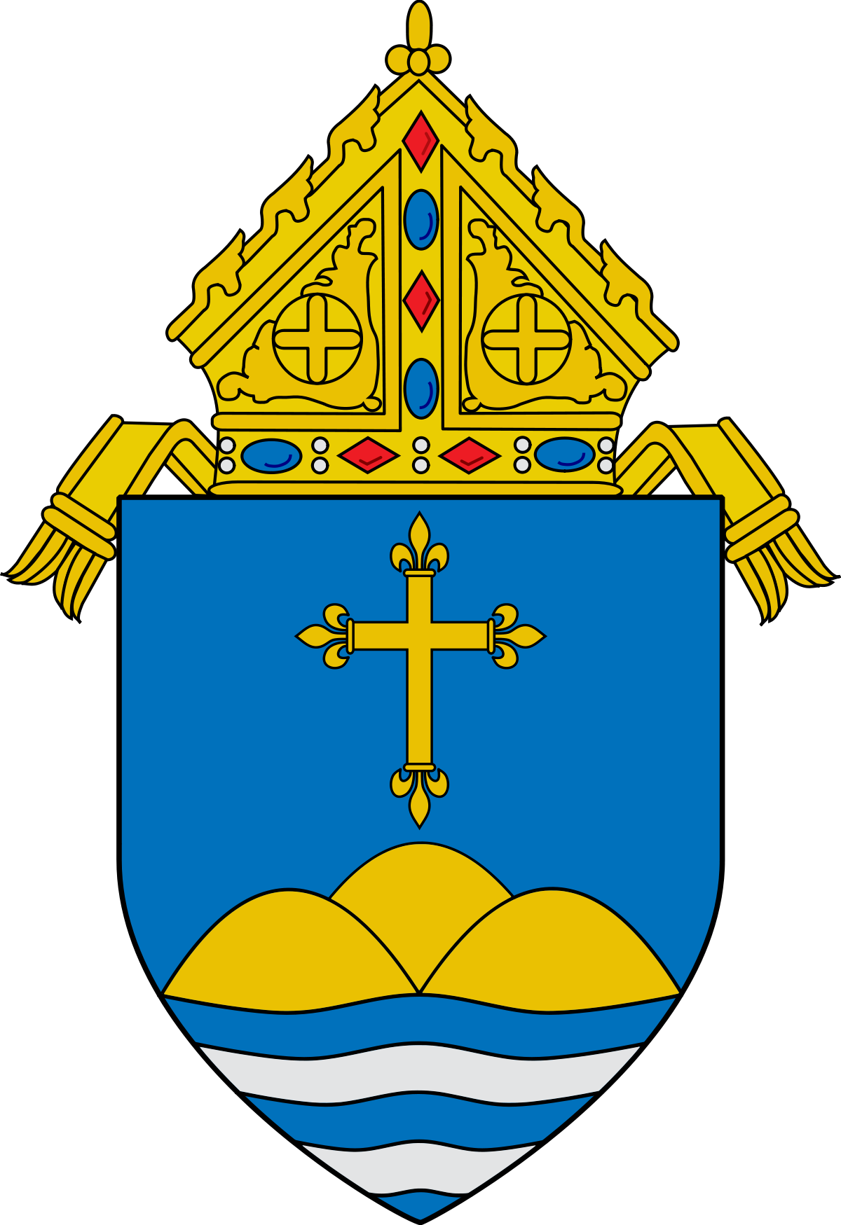 Crest of the Roman Catholic Archdiocese of Boston.
