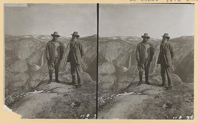 Theodore Roosevelt and Tyler Muir on Glacial Point