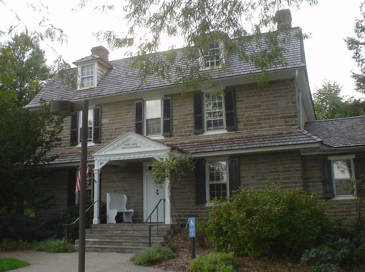 Benjamin West's birthplace was built around 1724 and has been part of Swarthmore College for over a century.