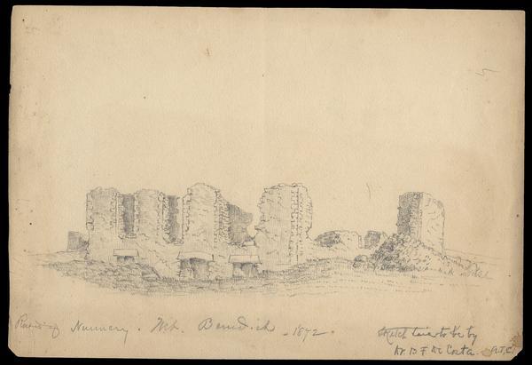 Sketch of the ruins by Benjamin DeCosta