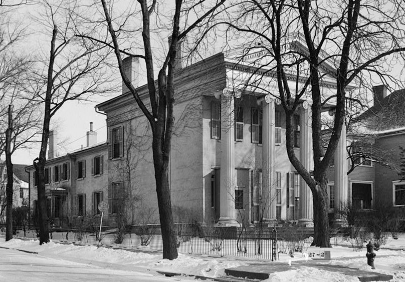 1934 Photo of the Wilson-Wahr Mansion in Ann Arbor, Michigan