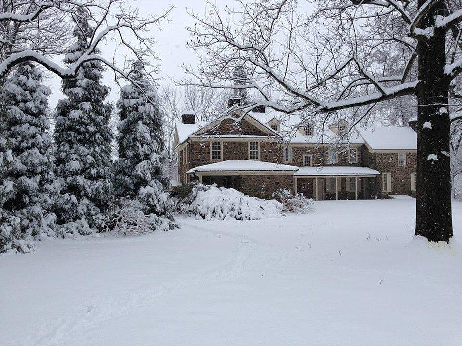 Waynesborough sits under a blanket of snow.
