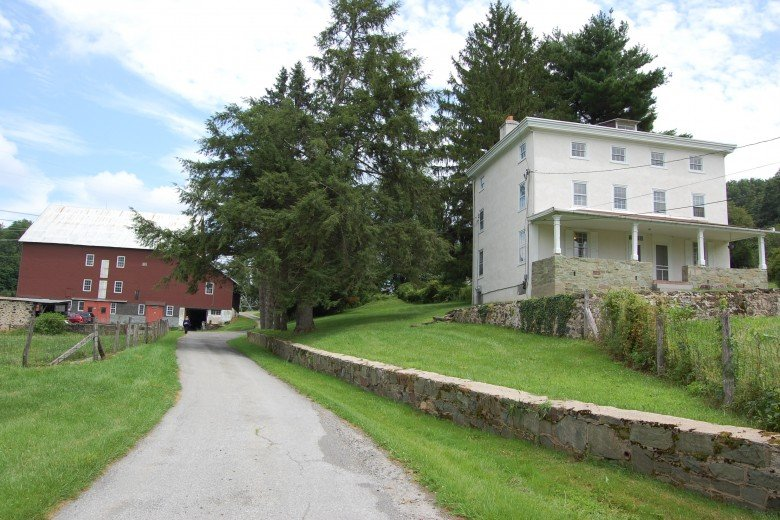 The lane, off Ring Road, that leads to Kuerner Farm that Wyeth walked up numerous times.