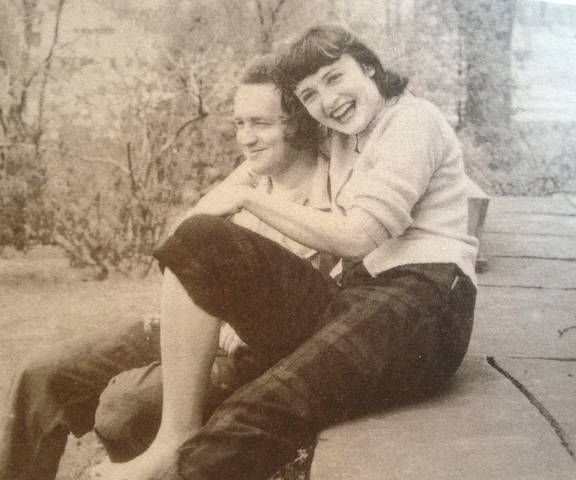 A young Andrew and Betsy Wyeth.