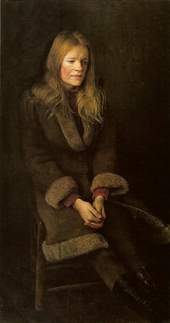 One of over 200 portraits of Helga painted by Wyeth.