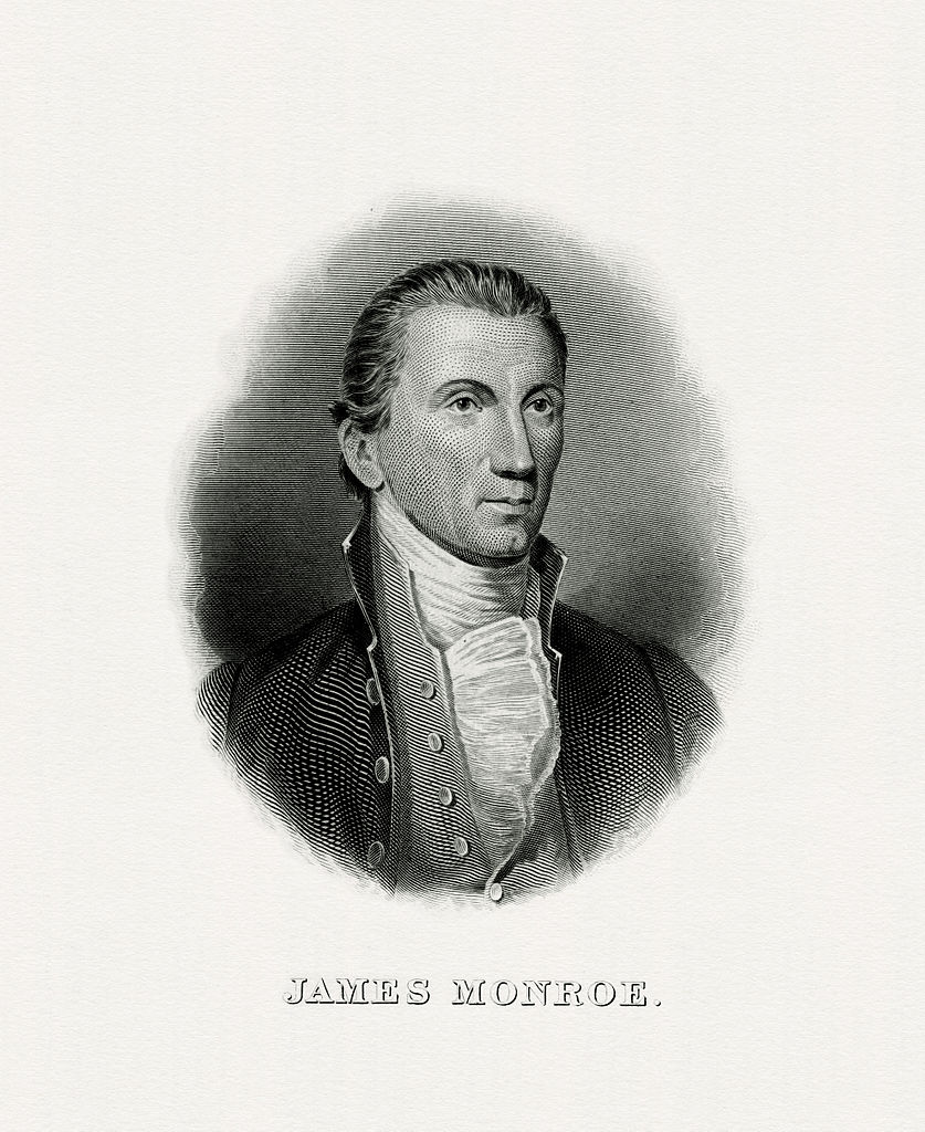 The Bureau of Engraving and Printing portrait of James Monroe