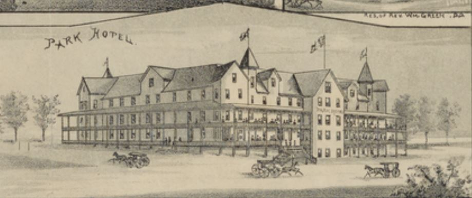 Park Hotel on historic map