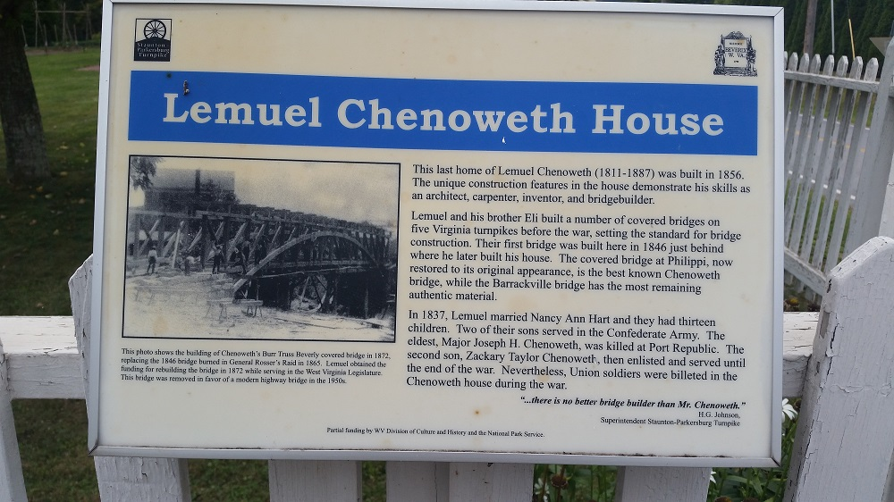 One of six (6) markers deticated to Lemuel Chenoweth