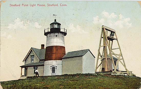 Postcard of the lighthouse from around 1908.