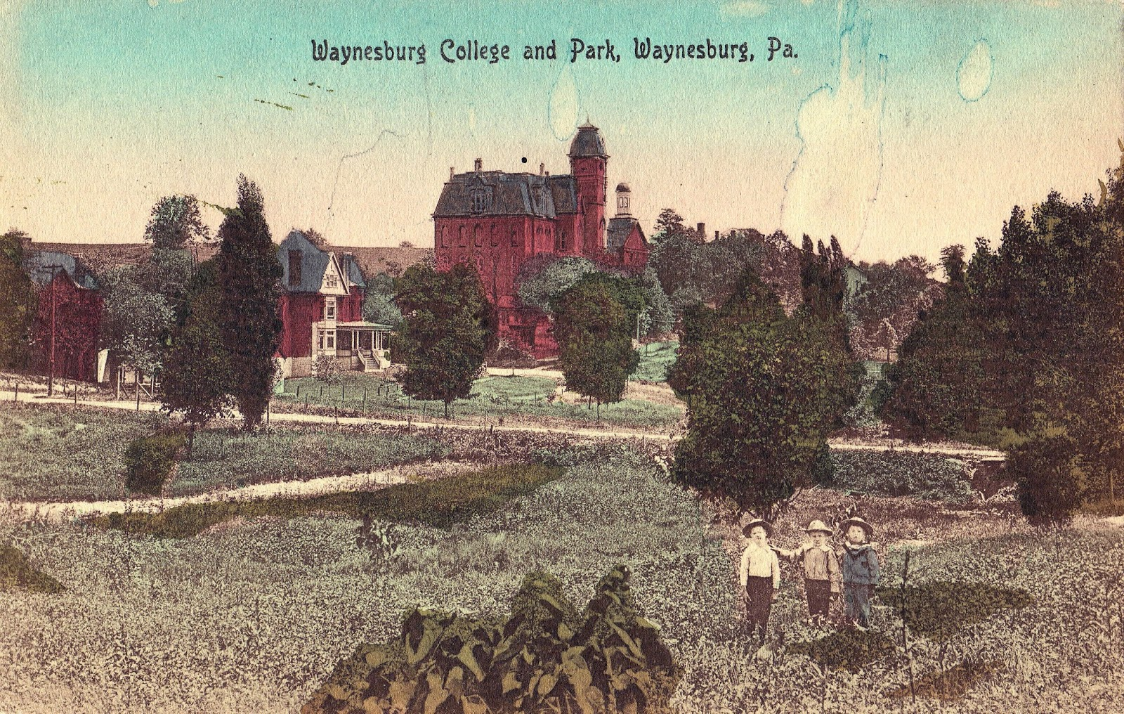 An early 20th century postcard with Miller Hall included.