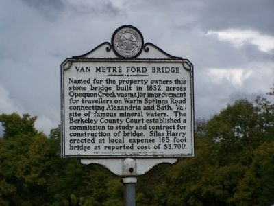 The highway marker on the bridge's southeast end. Photo by Beverly Pfingsten