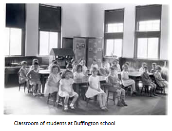 Students at Buffington Elementary School