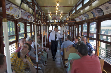 In addition to exhibits and rolling stock, guests can take a tour aboard one of the trolleys