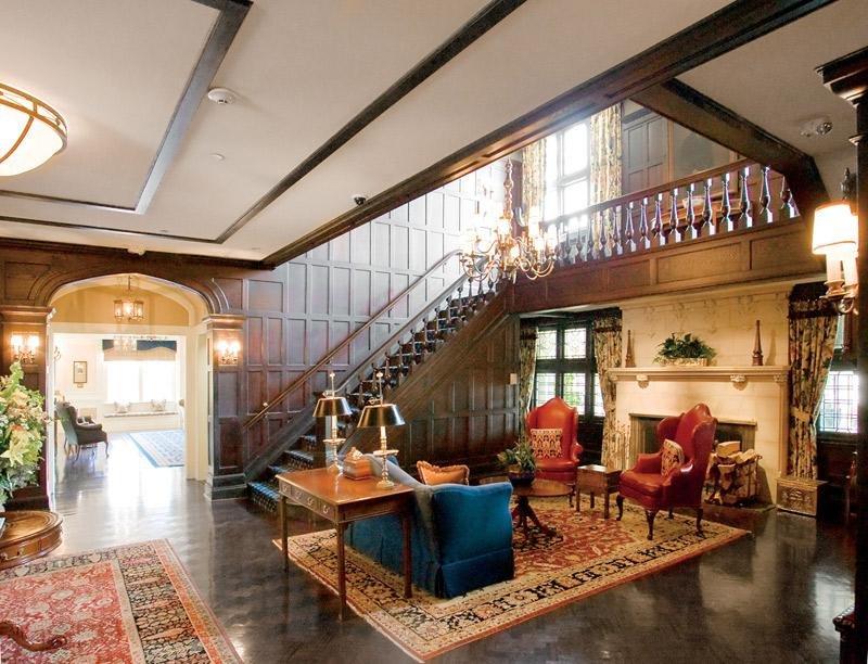 A peek inside Baltusrol's clubhouse.