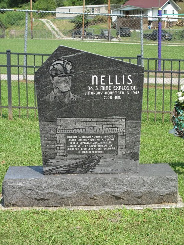 Front view of the Nellis Monument