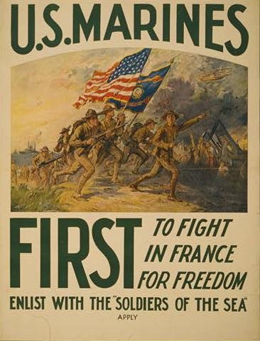 WWI Marine Corps recruiting poster