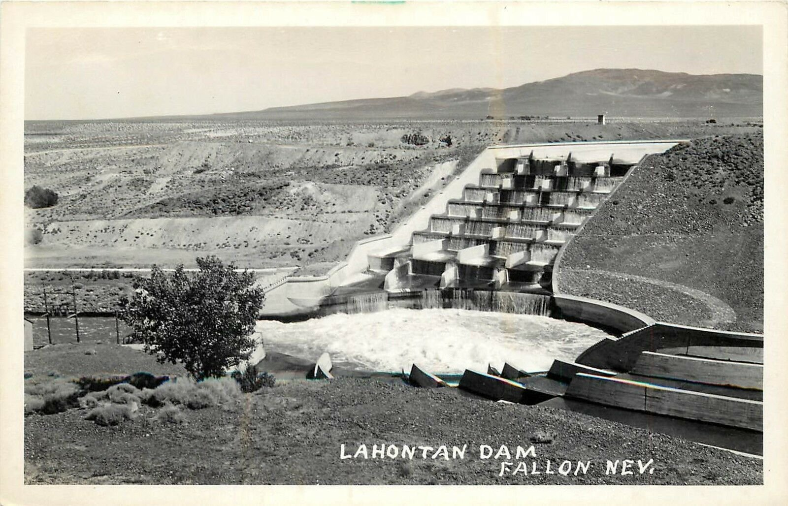 Postcard of completed dam.