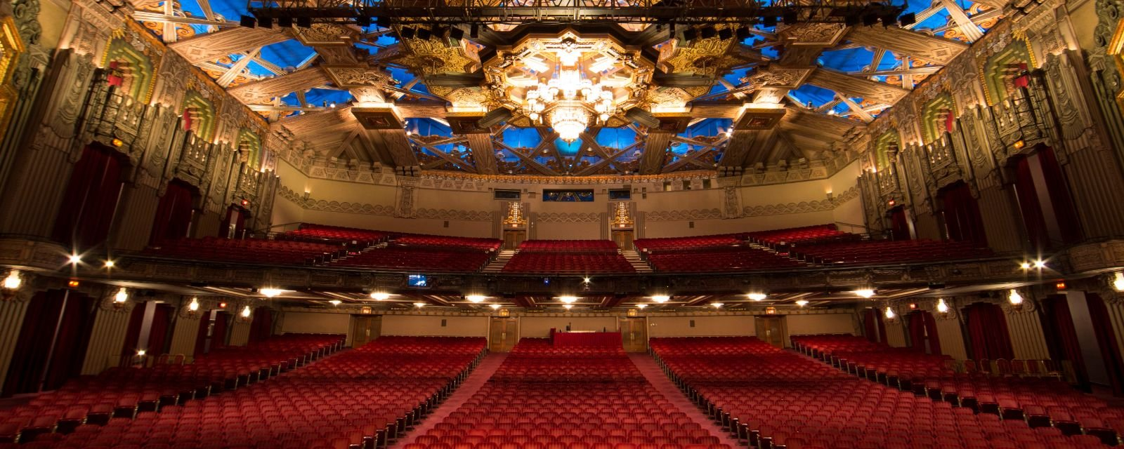 The inside of the James M. Nederlander Theatre