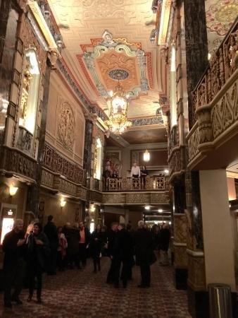 The theatre lobby
