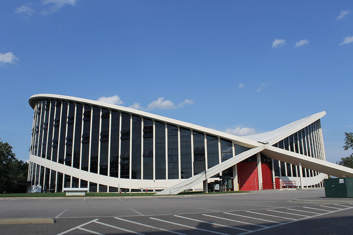 Side-view of the Dorton Arena. Photo by Leah Rucker.
