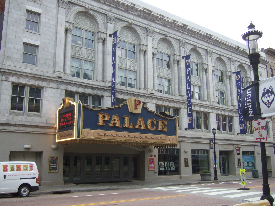 Palace Theater was built in 1922 and is an important cultural and arts center in Waterbury.