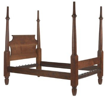 H. Boyd bedstead circa 1850.  From the  Collection of the Smithsonian National Museum of African American History and Culture