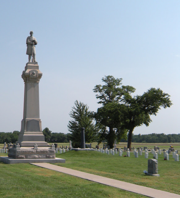 This monument was dedicated in 1868 and is located at the Baxter Springs Cemetery