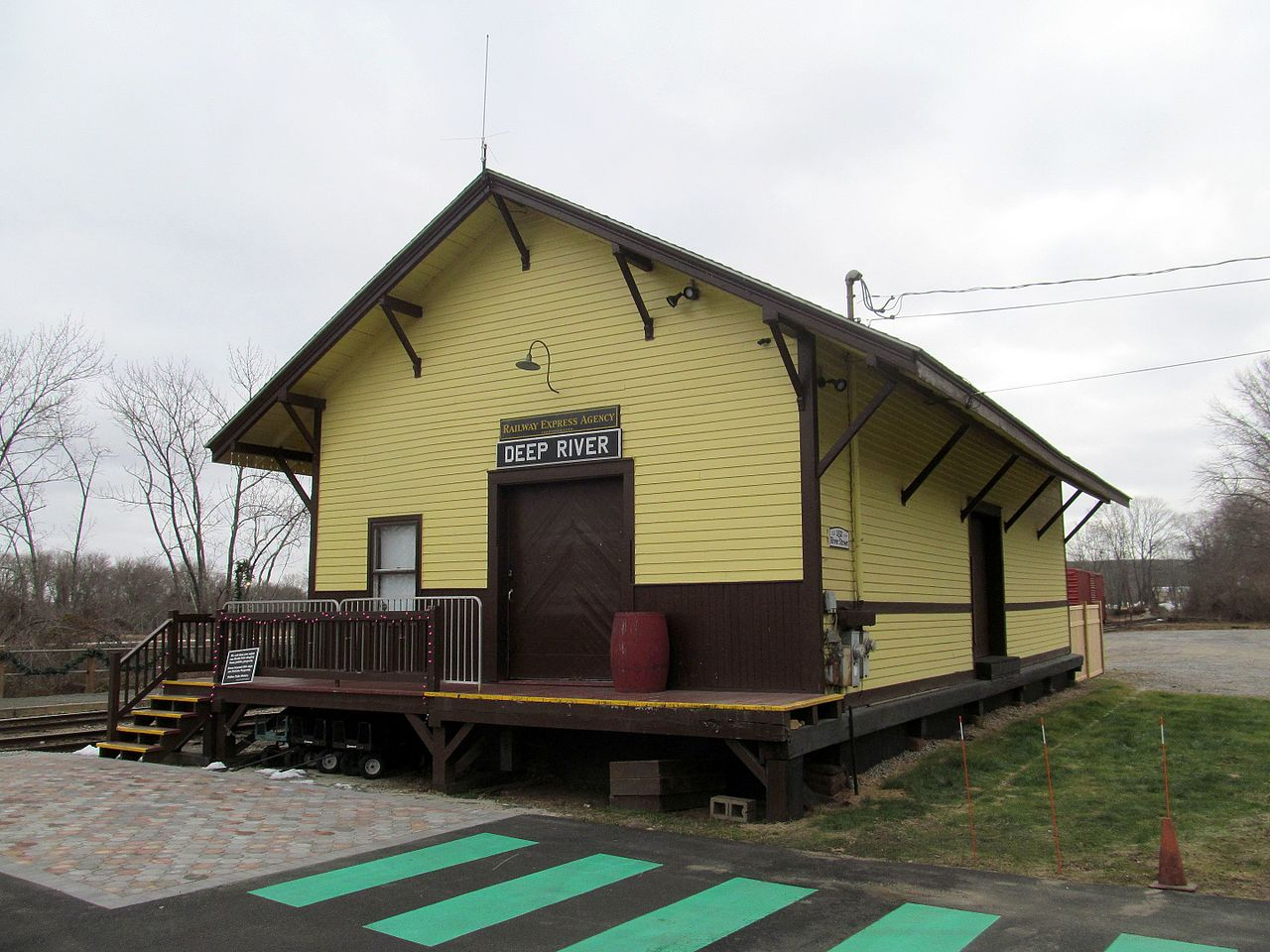 The Deep River Freight Station was built in 1915 and is listed on that National Register of Historic Places.