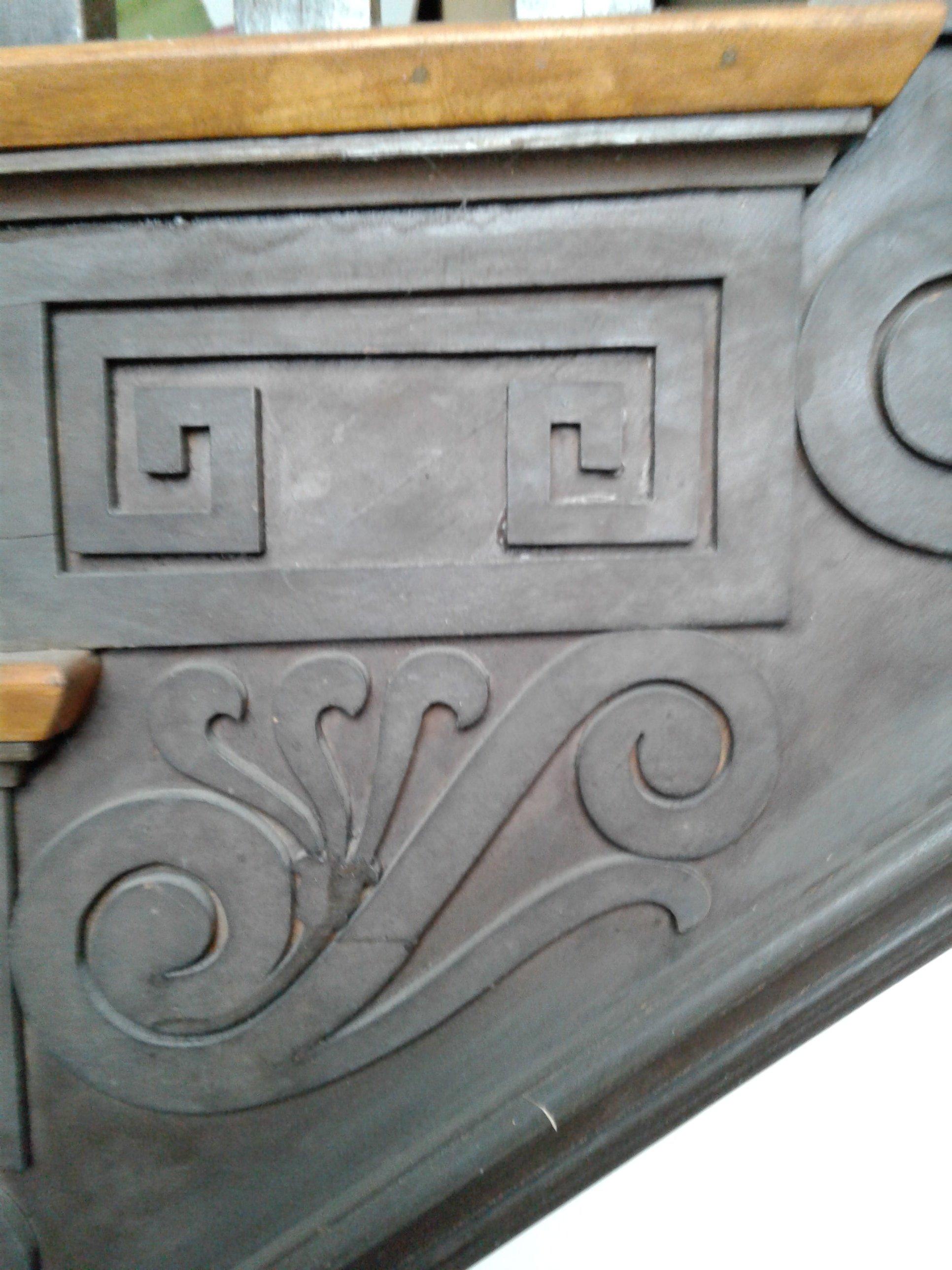 Greek Fret molding along staircase in Historic Jones Memorial Library.