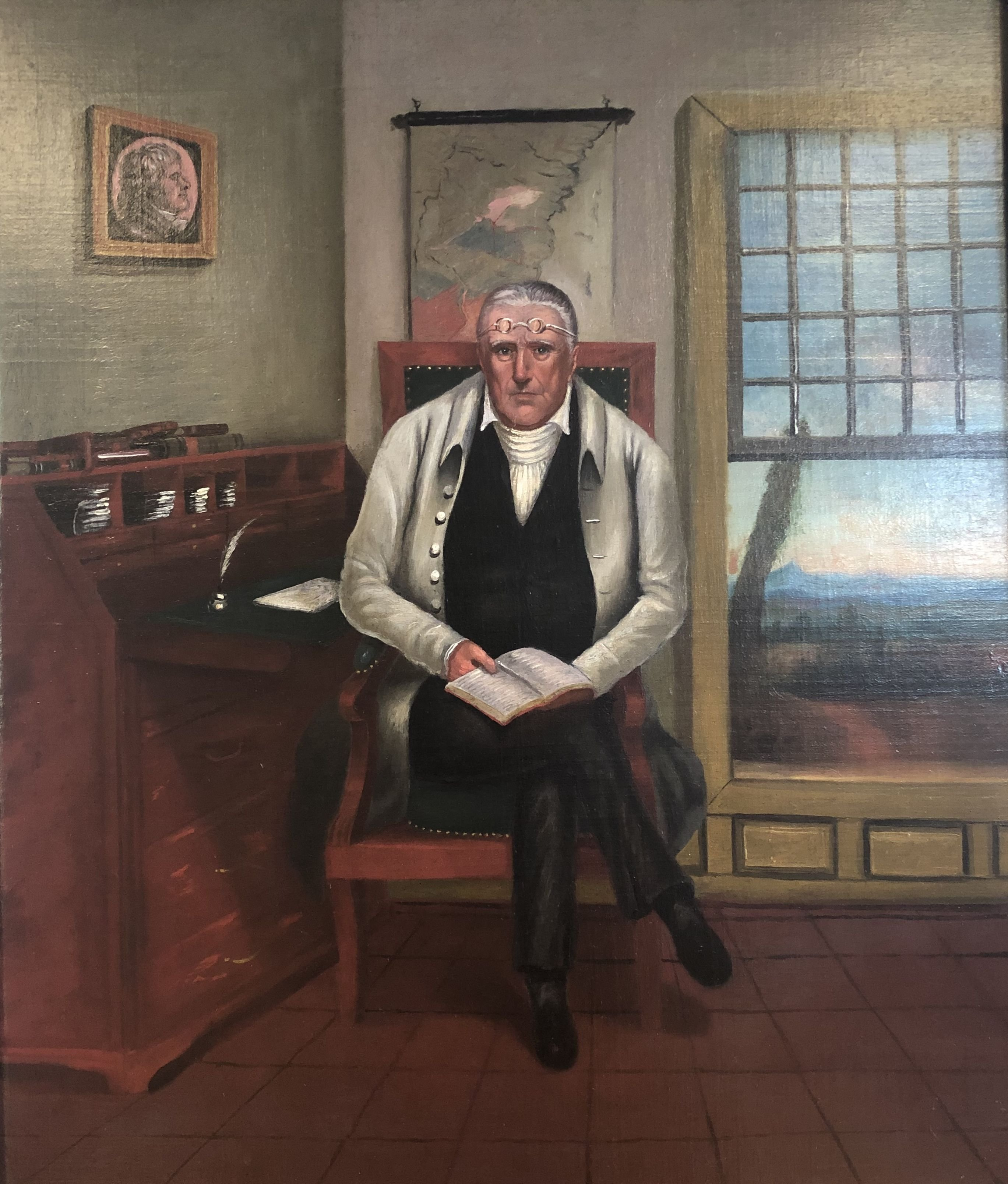 Painting of James Steptoe by Harvey Mitchell: 
