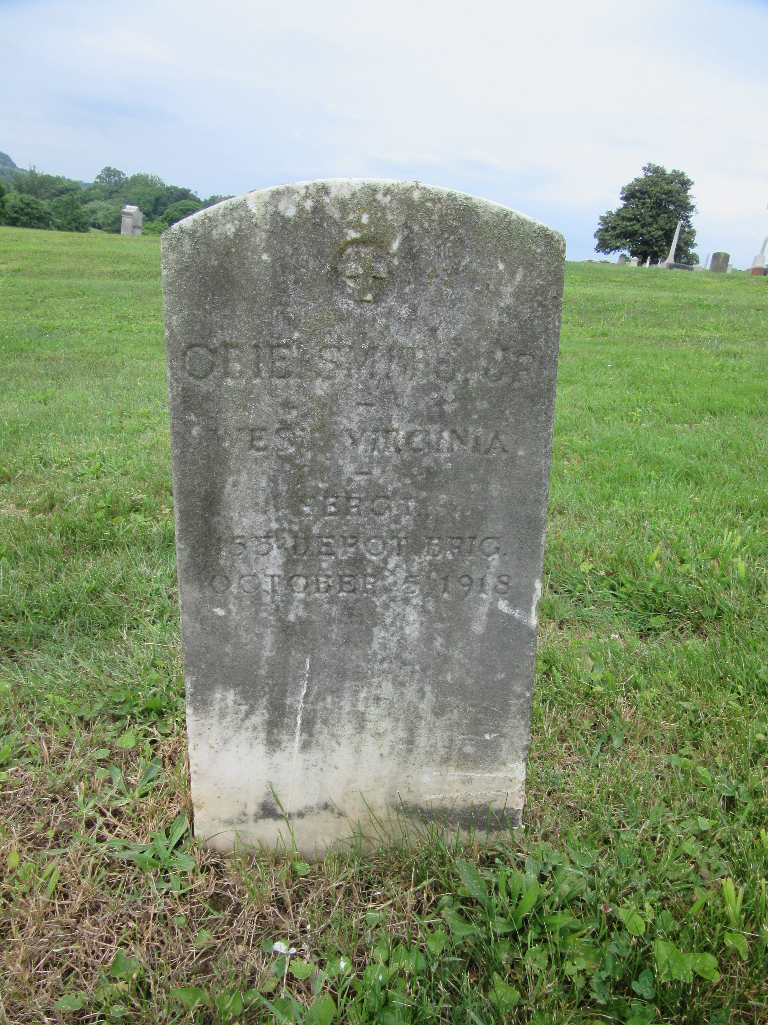 Headstone at Spring Hill Cemetery